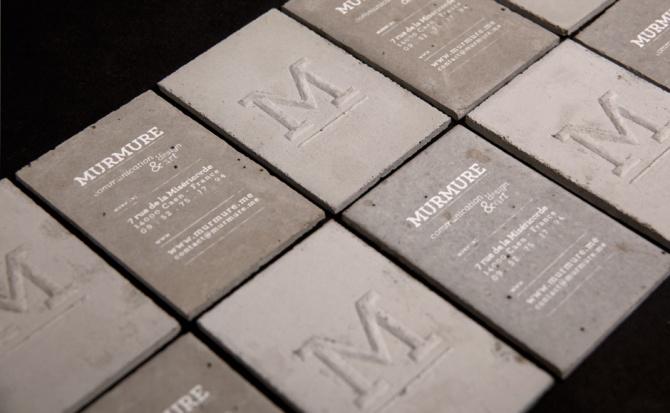Murmure, tarjetas de hormigón