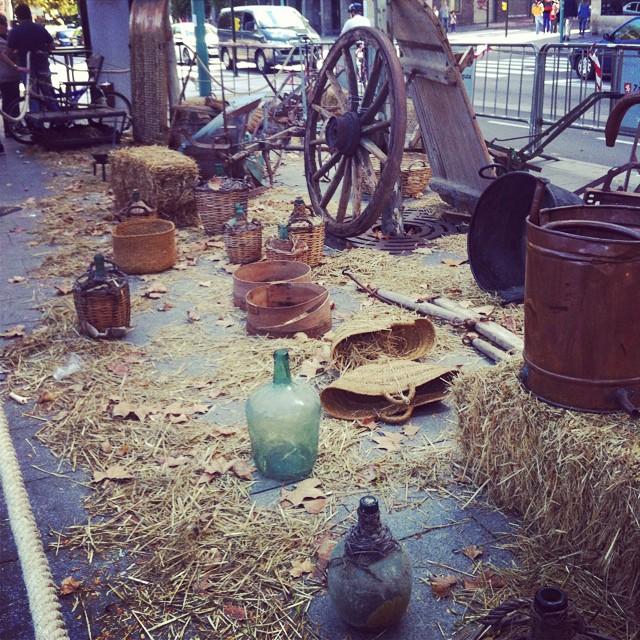 #Pilares2014 Un chaval de hoy no tiene mi idea de para q sirven todas estas joyas de la agricultura antigua!!