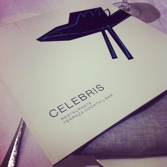 Y para acabar un día perfecto una cena 5estrellas en el #Celebris, qué más se puede pedir? Mil gracias amore!!