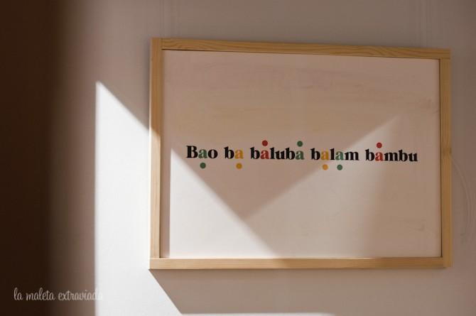 Cartel del baño. Baobab