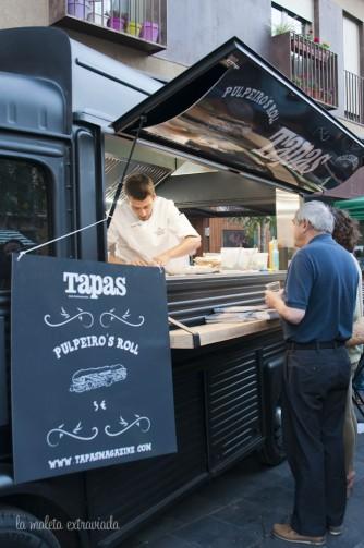 Pulpeiro's roll de Tapas en el Plateselector Food Tour de Zaragoza