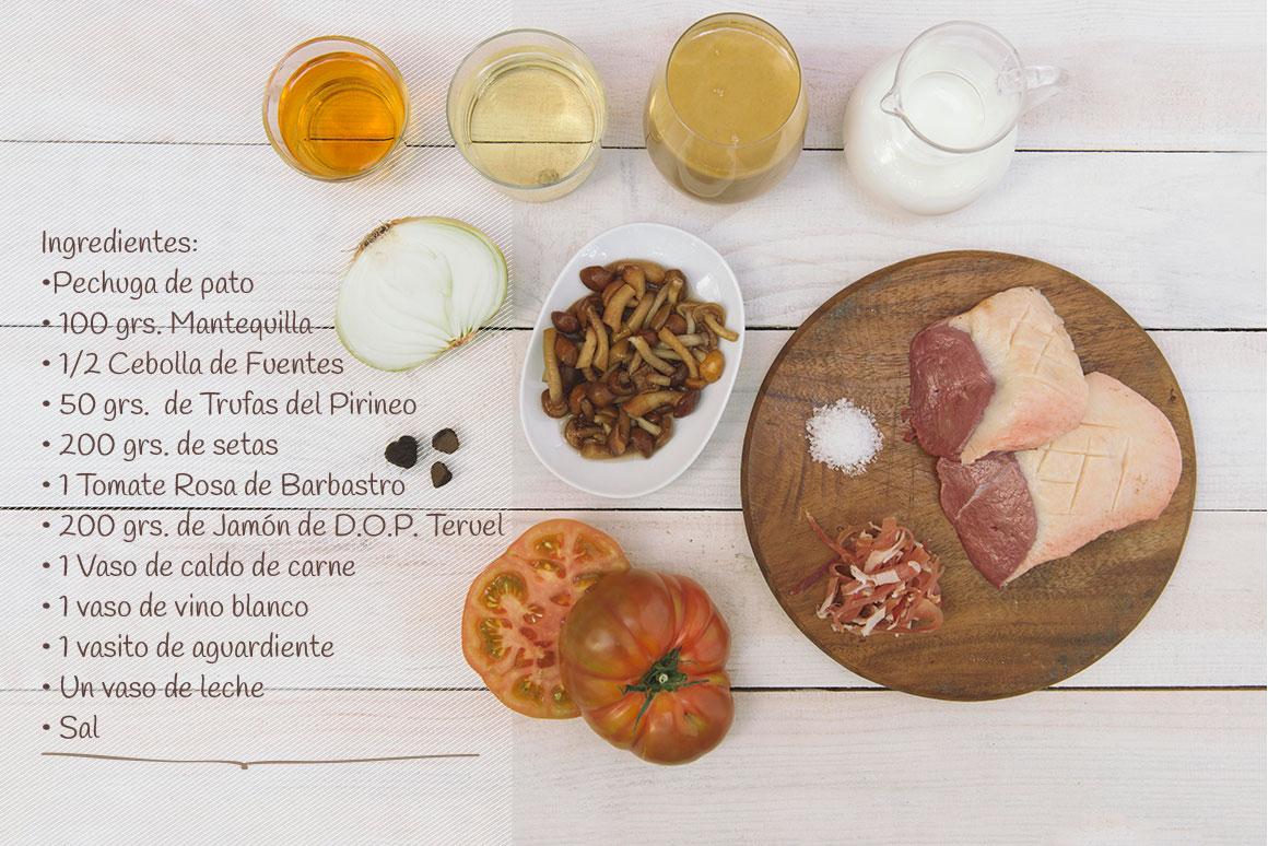 ingredientes-receta-aragon-pechuga-de-pato-con-trufa-del-pirineo