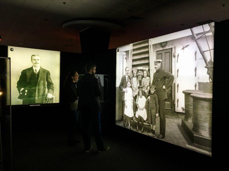fotografia de familias que viajaban en el Titanic