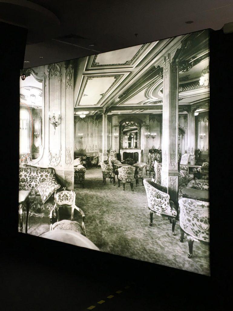 salones de primera clase del Titanic
