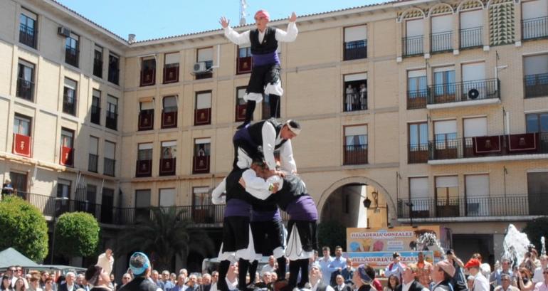 Fiestas de Tauste Dance de Tauste Torre humana