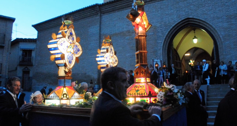 Fiestas de Tauste Rosario de Cristal Cruz Guia