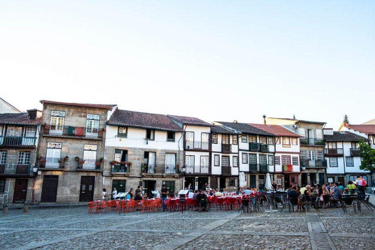 Plaza de Sao Tiago Guimaraes Portugal