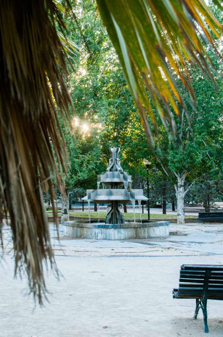 Fuente del parque de la ajaferia de ZAragoza