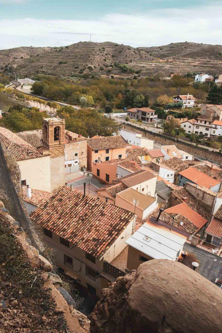 Vista de Los Fayos del Moncayo desde la Cueva de Caco