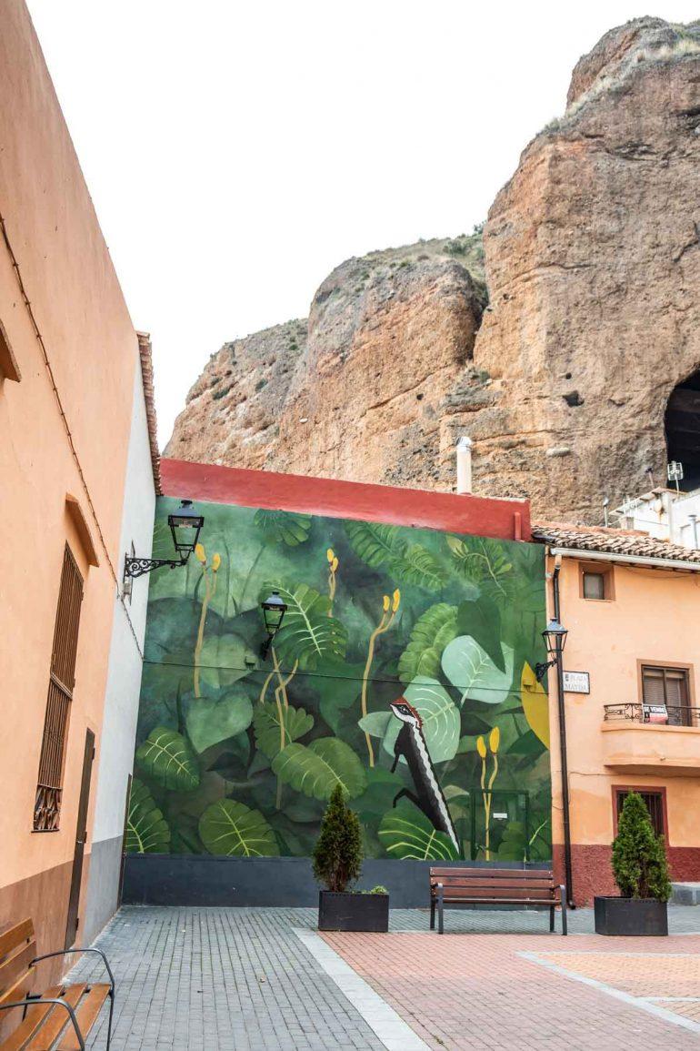 Mural pintado en Los Fayos del Moncayo