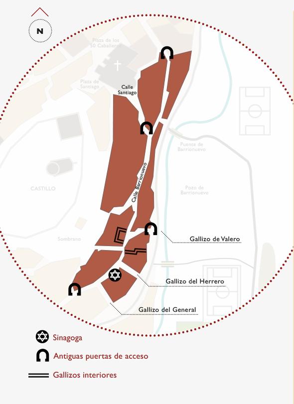 Plano de la Juderia de Uncastillo | La maleta extraviada