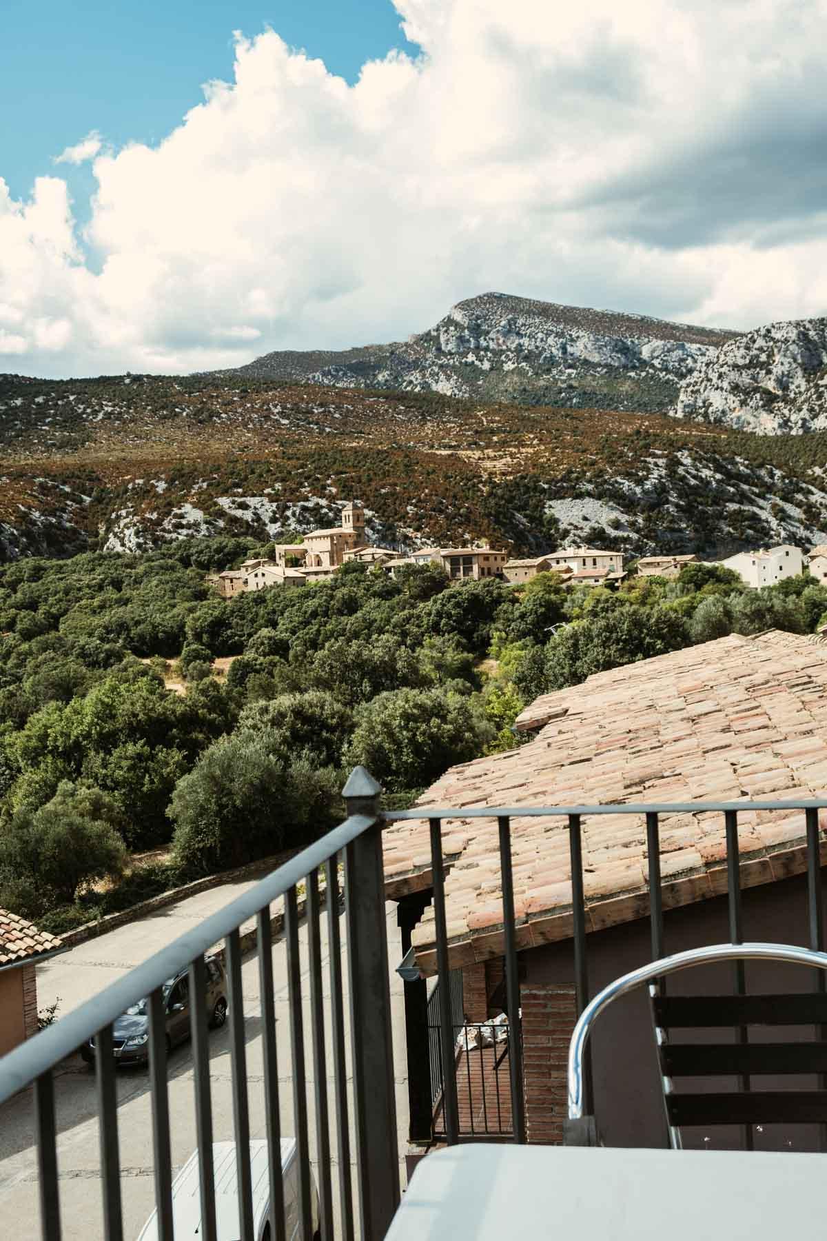 Terraza del Apartahotel Valle de Rodellar